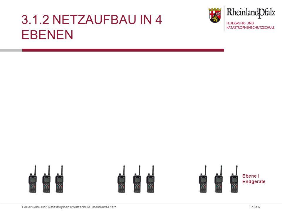 3.1.2 Netzaufbau in 4 Ebenen Ebene I Endgeräte