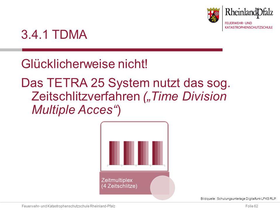 """3.4.1 TDMA Glücklicherweise nicht! Das TETRA 25 System nutzt das sog. Zeitschlitzverfahren (""""Time Division Multiple Acces )"""