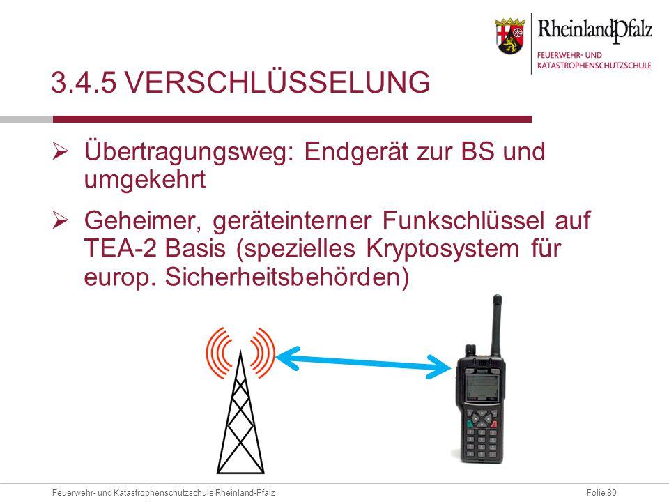 3.4.5 Verschlüsselung Übertragungsweg: Endgerät zur BS und umgekehrt