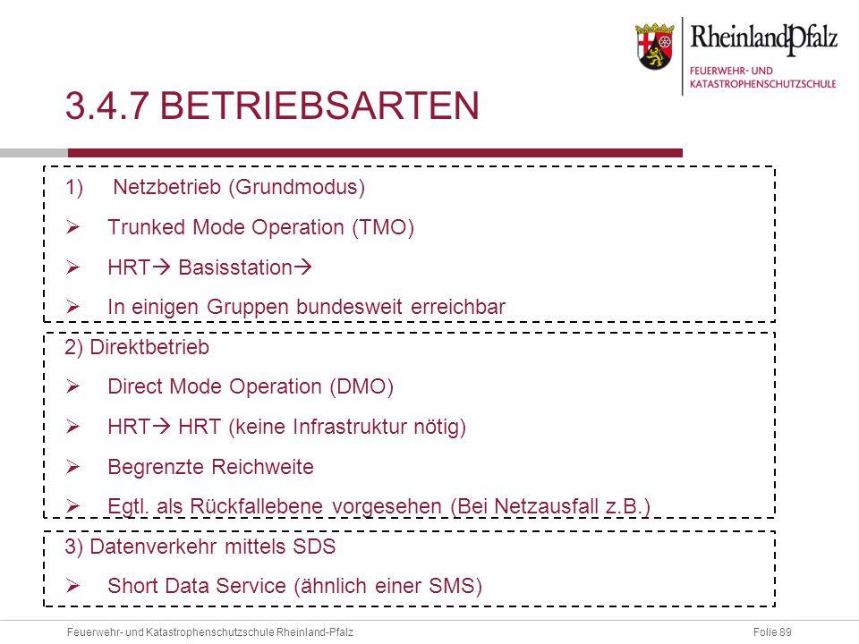 3.4.7 Betriebsarten Netzbetrieb (Grundmodus)