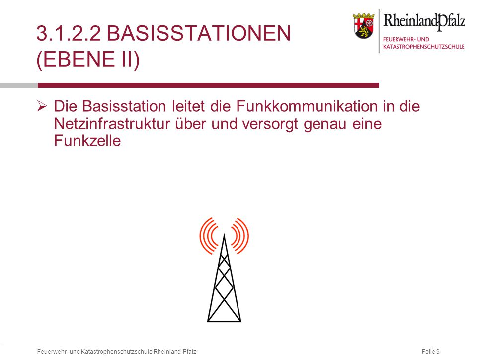 3.1.2.2 Basisstationen (Ebene II)
