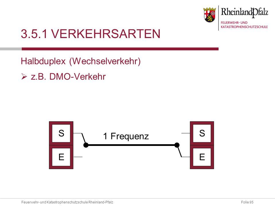 3.5.1 Verkehrsarten Halbduplex (Wechselverkehr) z.B. DMO-Verkehr S S