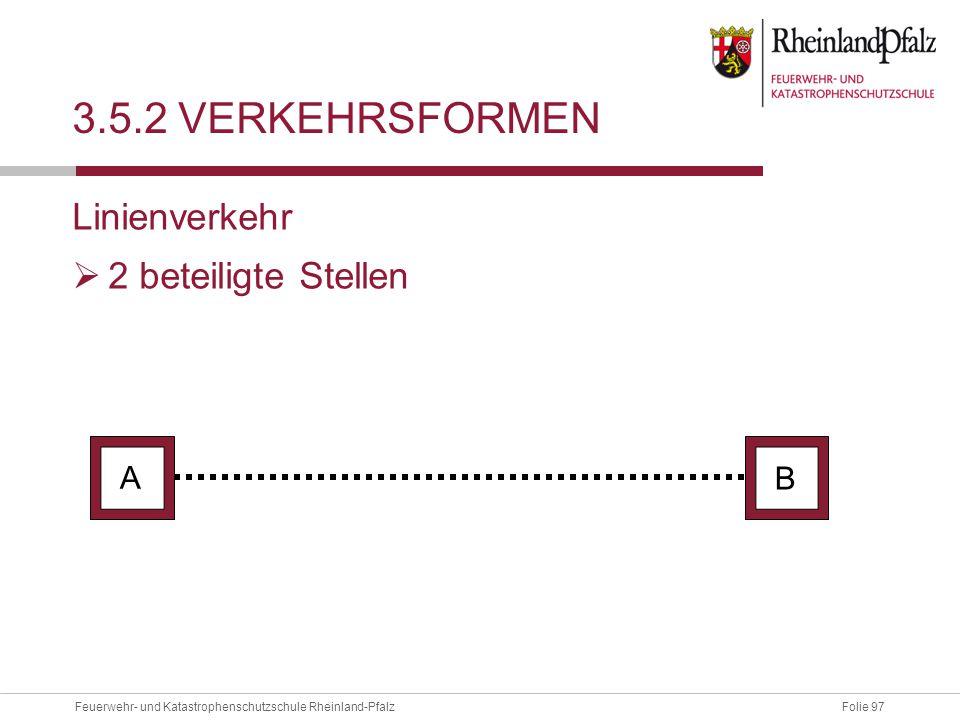 3.5.2 Verkehrsformen Linienverkehr 2 beteiligte Stellen A B