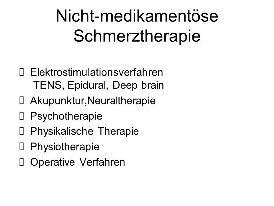 Nicht-medikamentöse Schmerztherapie