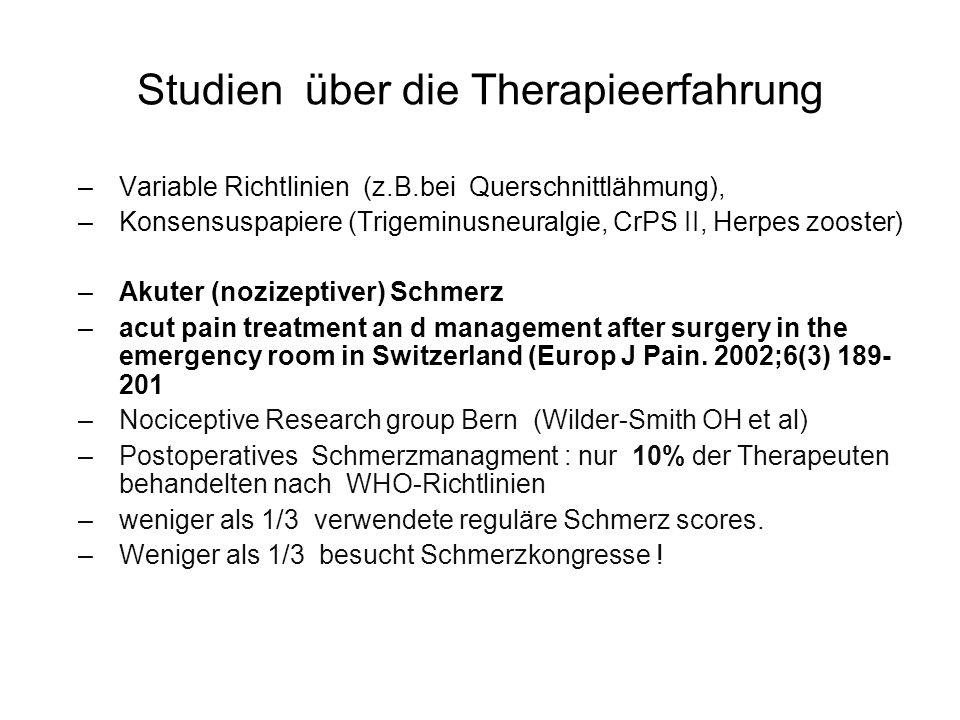 Studien über die Therapieerfahrung