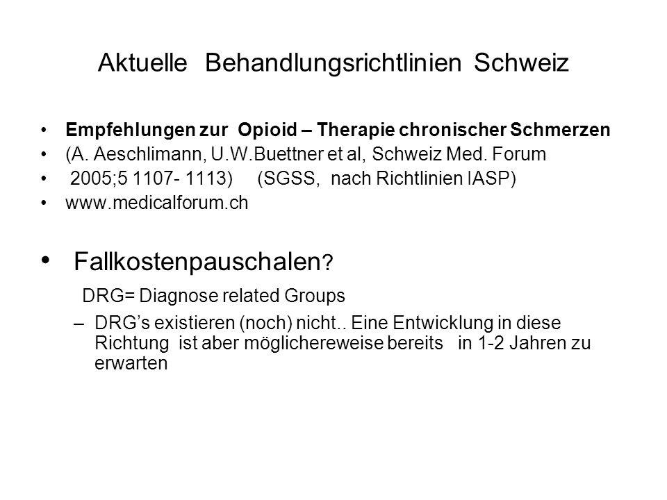 Aktuelle Behandlungsrichtlinien Schweiz