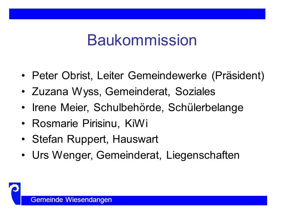 Baukommission Peter Obrist, Leiter Gemeindewerke (Präsident)