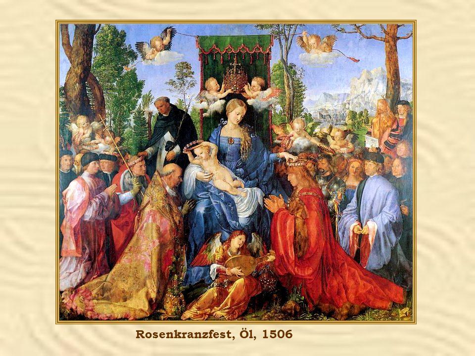 Rosenkranzfest, Öl, 1506