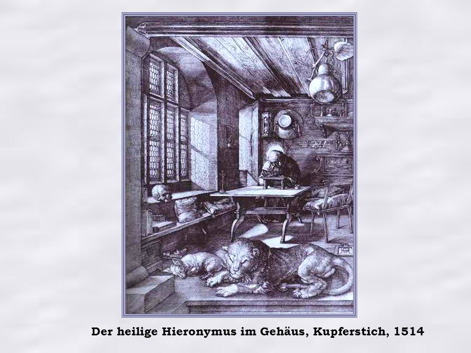 Der heilige Hieronymus im Gehäus, Kupferstich, 1514