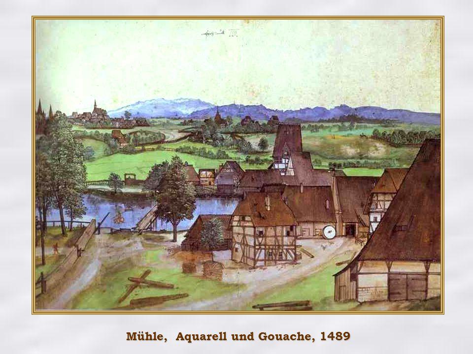 Mühle, Aquarell und Gouache, 1489