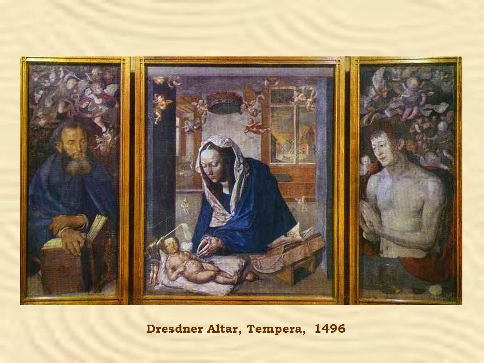 Dresdner Altar, Tempera, 1496