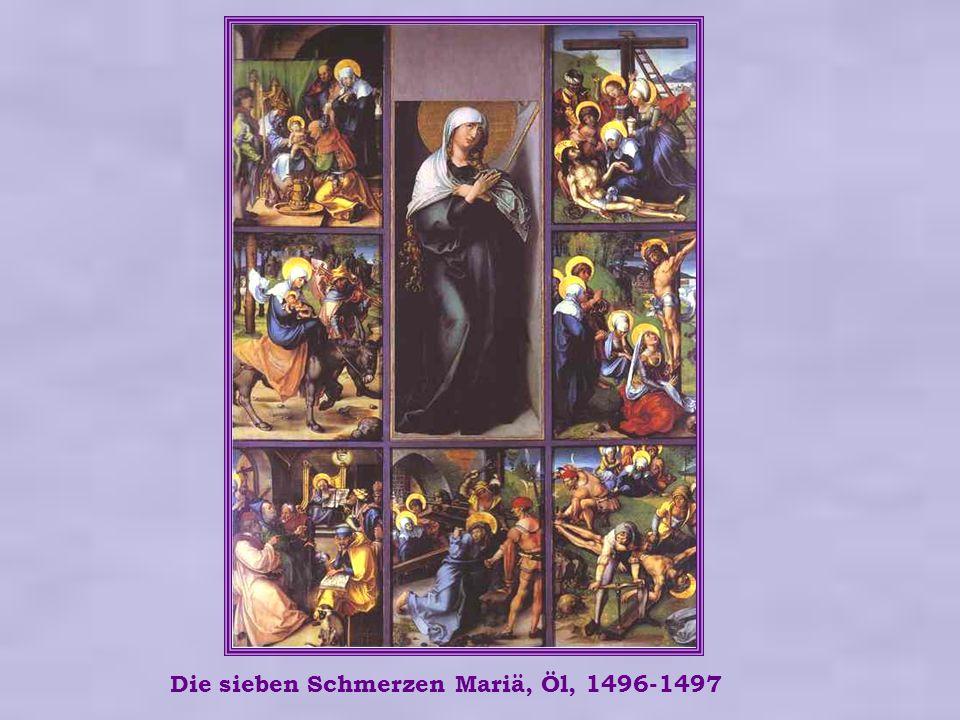 Die sieben Schmerzen Mariä, Öl, 1496-1497