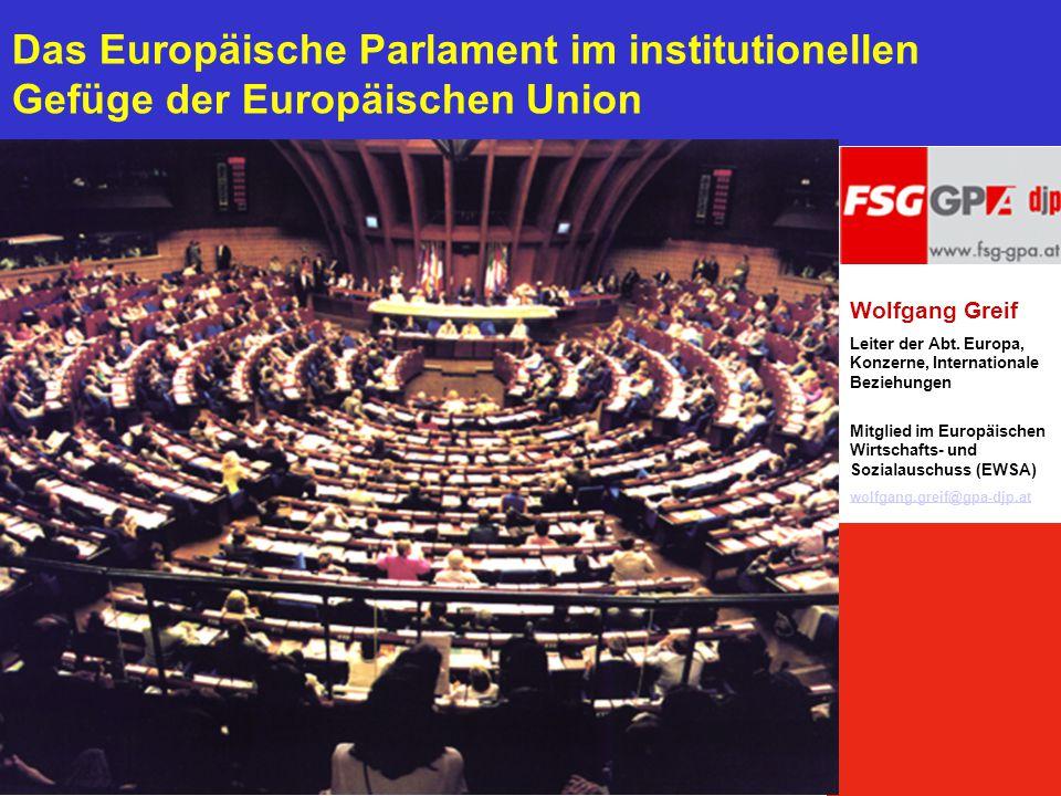 Das Europäische Parlament im institutionellen Gefüge der Europäischen Union