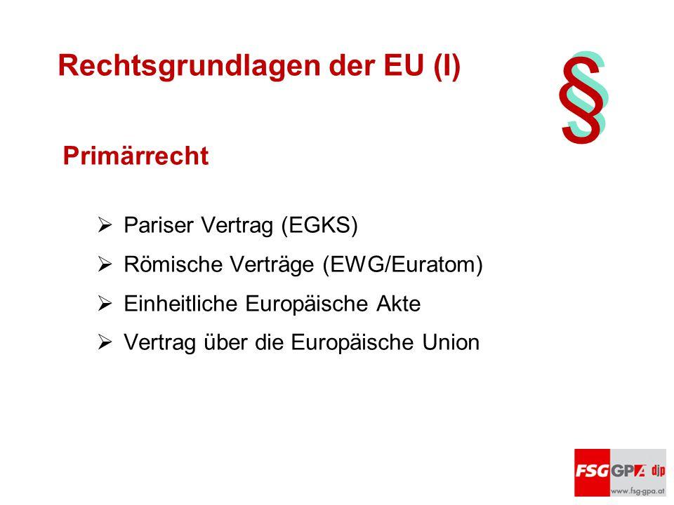 Rechtsgrundlagen der EU (I)