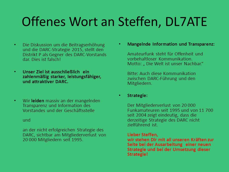 Offenes Wort an Steffen, DL7ATE