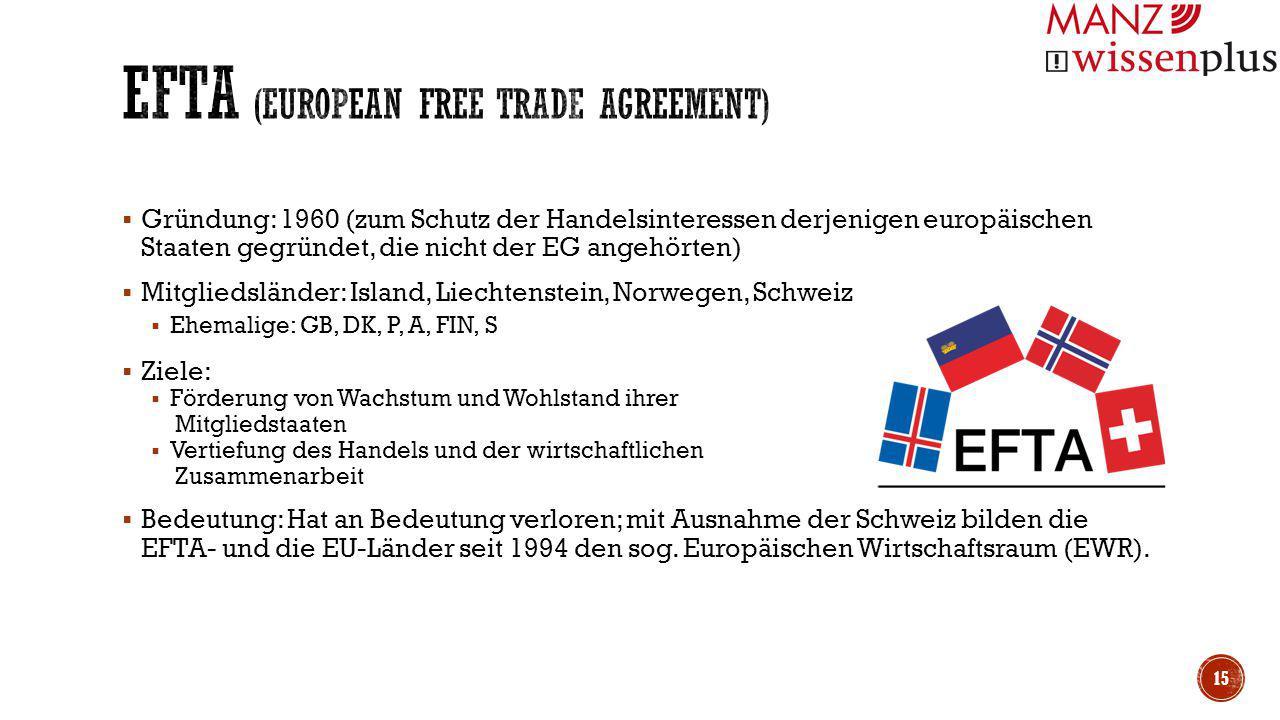 EFTA (European Free Trade Agreement)