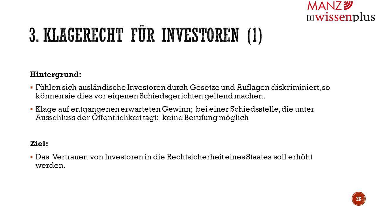 3. Klagerecht für Investoren (1)