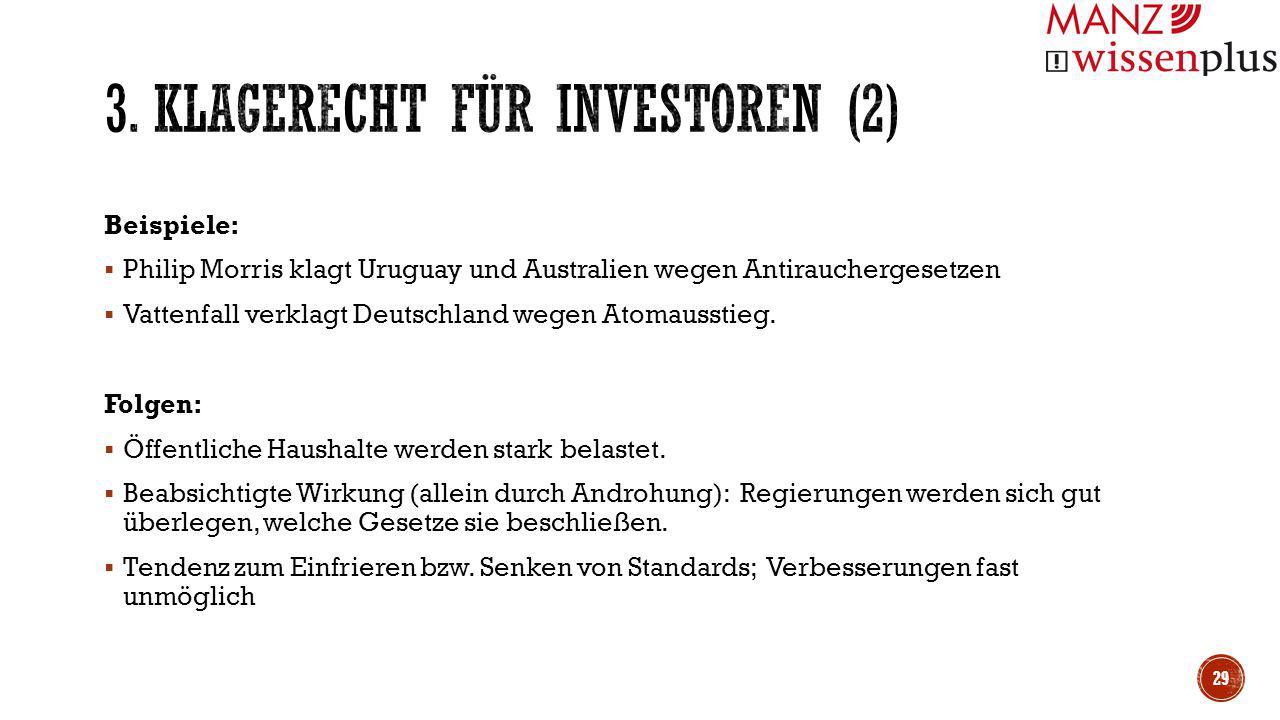 3. Klagerecht für Investoren (2)