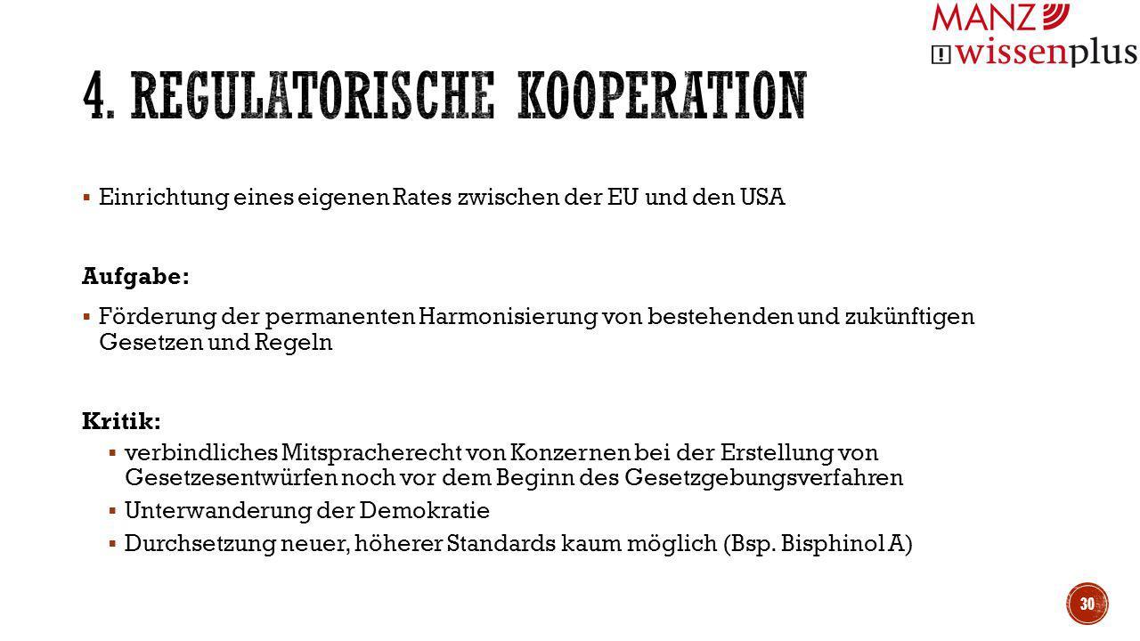 4. Regulatorische Kooperation