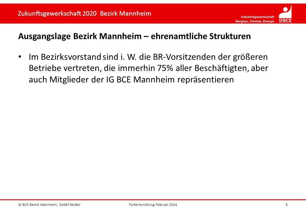 Ausgangslage Bezirk Mannheim – ehrenamtliche Strukturen