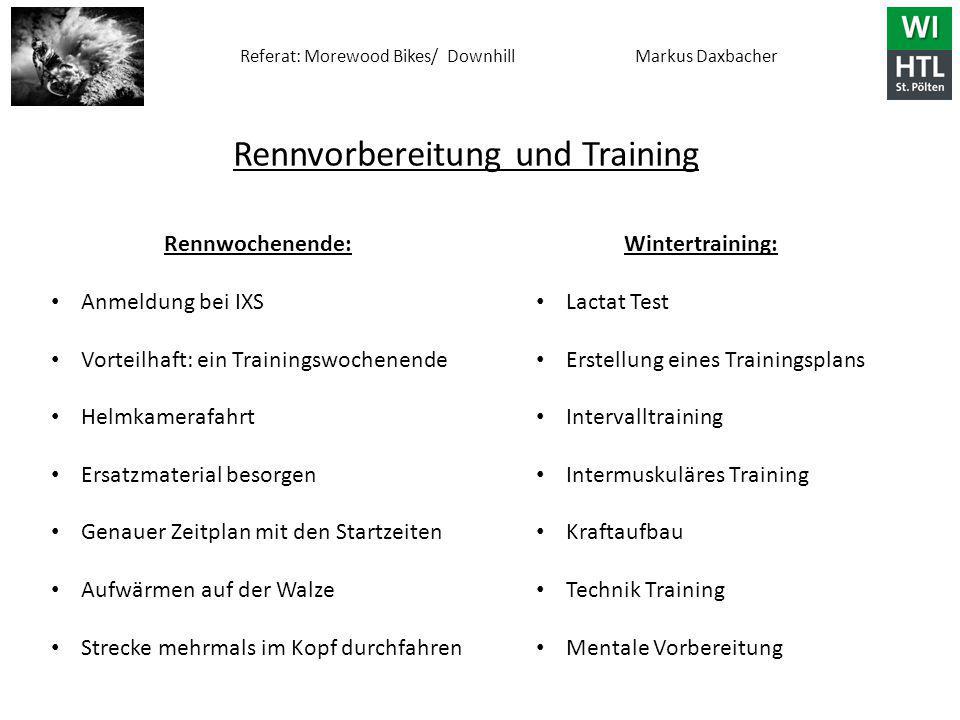 Rennvorbereitung und Training