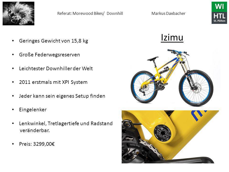 Izimu Geringes Gewicht von 15,8 kg Große Federwegsreserven