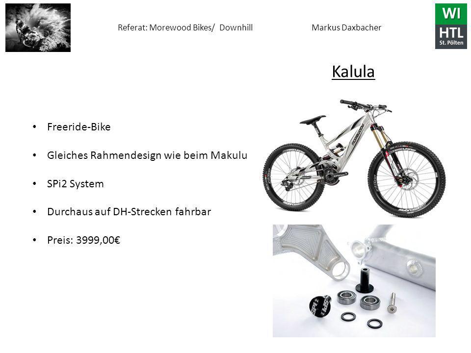 Kalula Freeride-Bike Gleiches Rahmendesign wie beim Makulu SPi2 System