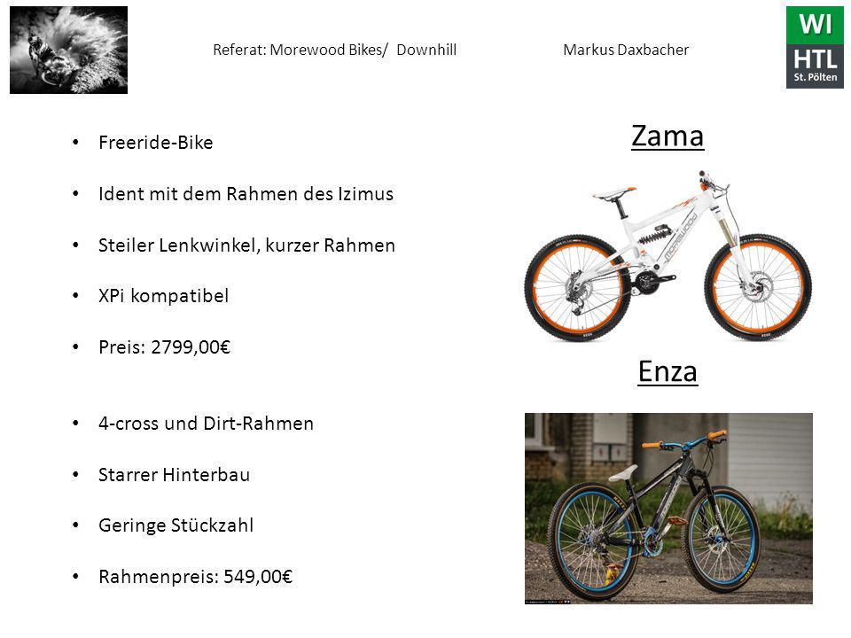 Zama Enza Freeride-Bike Ident mit dem Rahmen des Izimus
