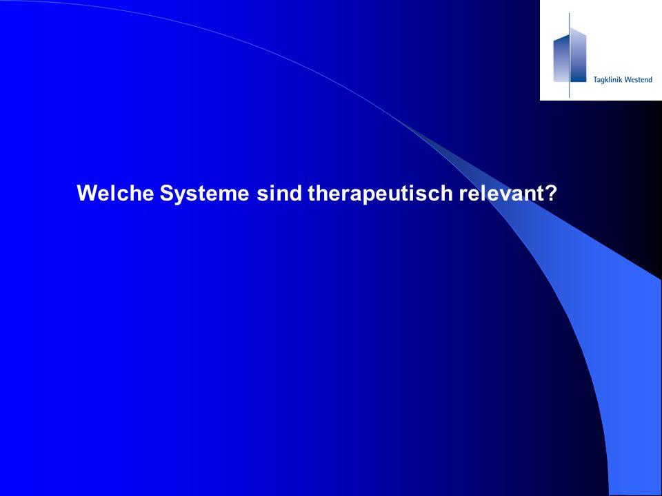 Welche Systeme sind therapeutisch relevant