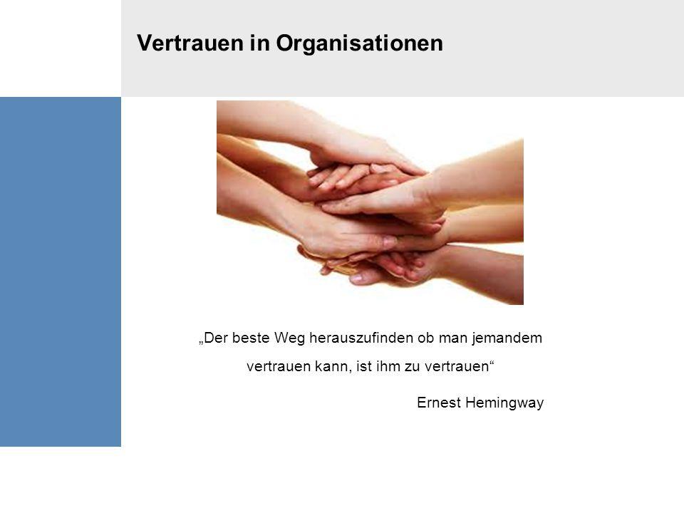 Vertrauen in Organisationen