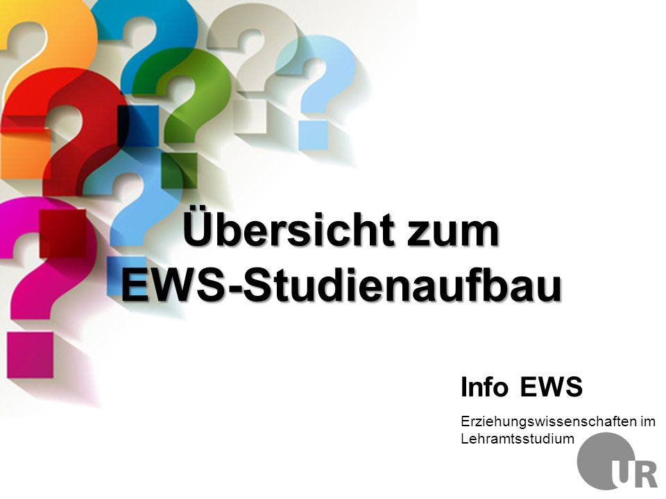 Übersicht zum EWS-Studienaufbau