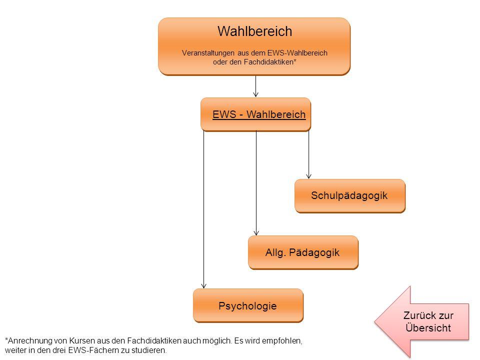 Wahlbereich EWS - Wahlbereich Schulpädagogik Allg. Pädagogik