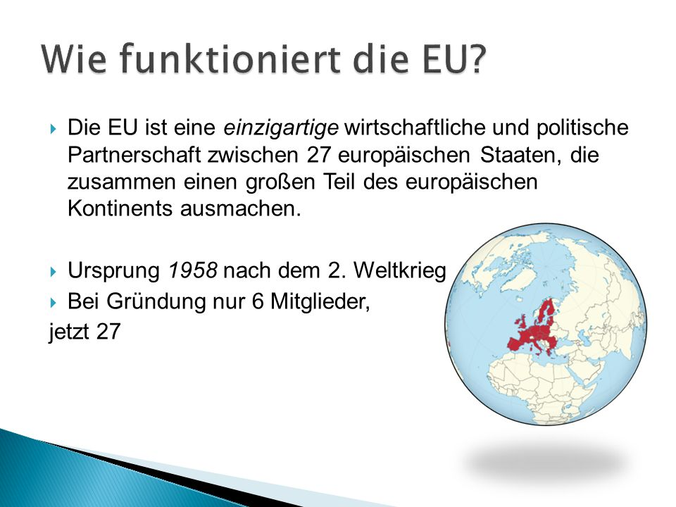 Wie funktioniert die EU