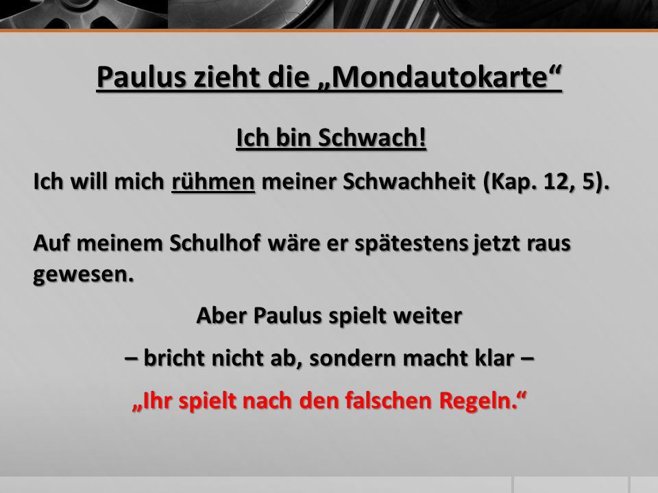 "Paulus zieht die ""Mondautokarte"