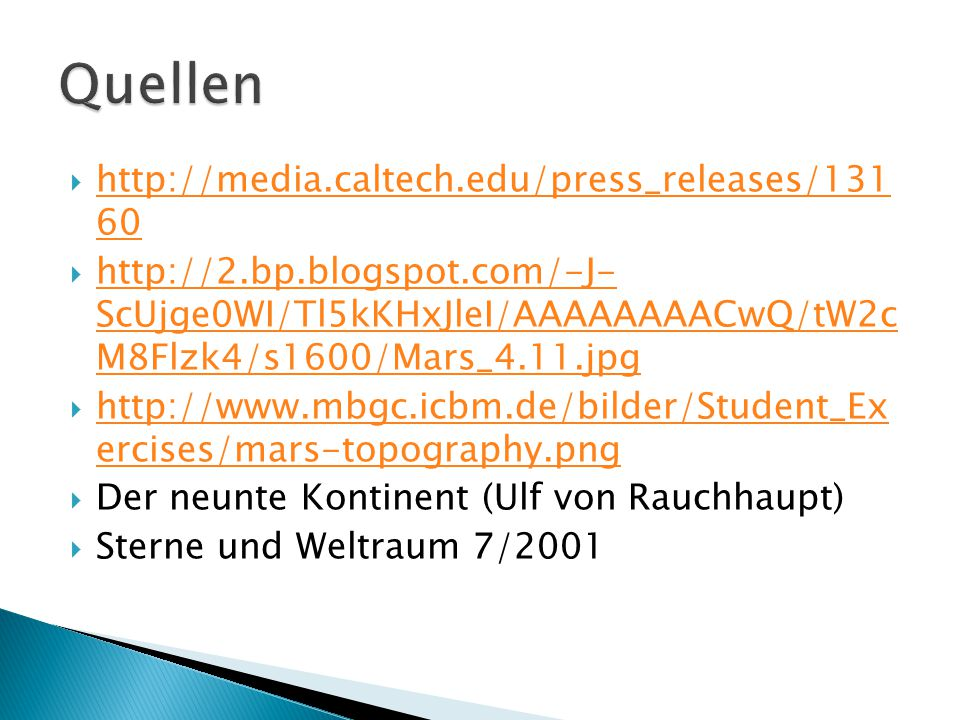 Quellen http://media.caltech.edu/press_releases/131 60