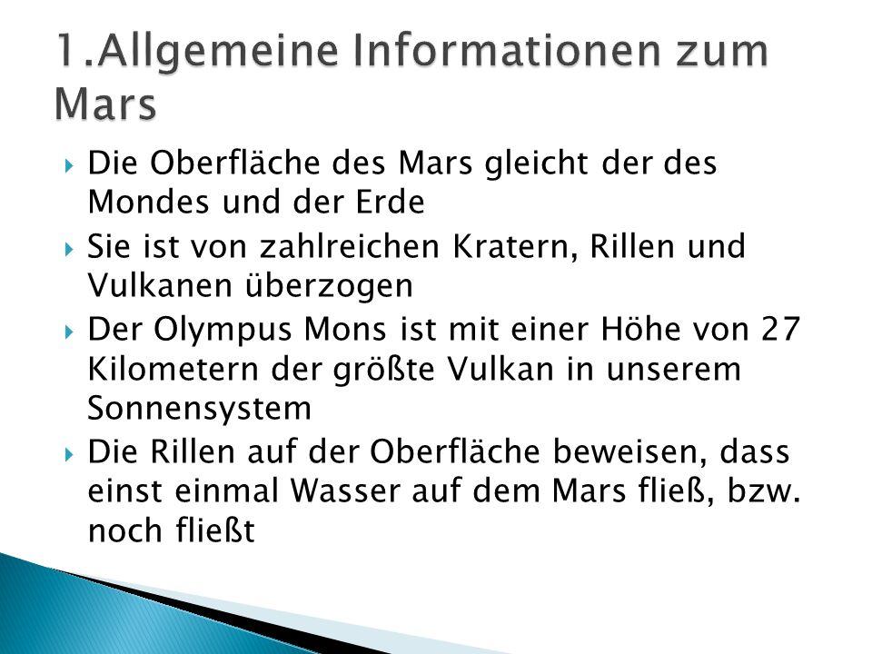 1.Allgemeine Informationen zum Mars