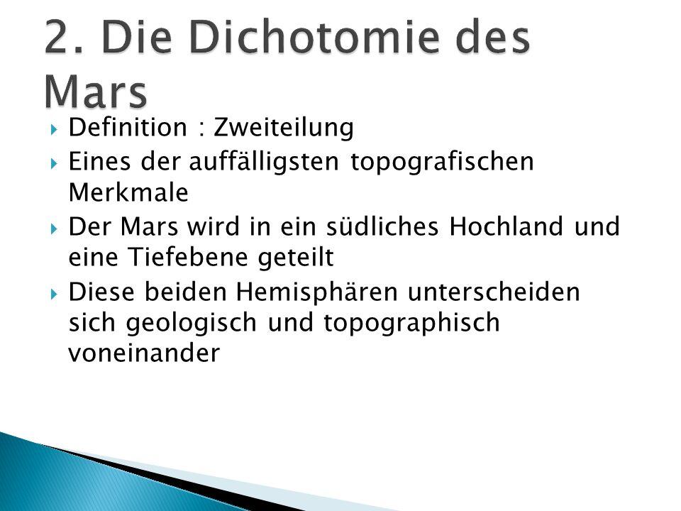 2. Die Dichotomie des Mars