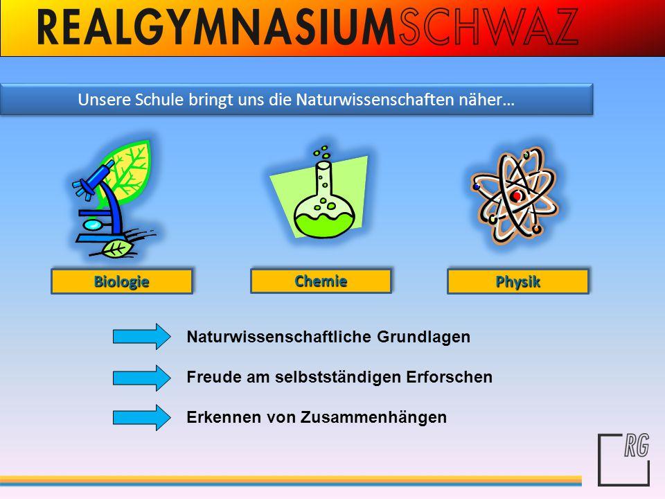 Unsere Schule bringt uns die Naturwissenschaften näher…