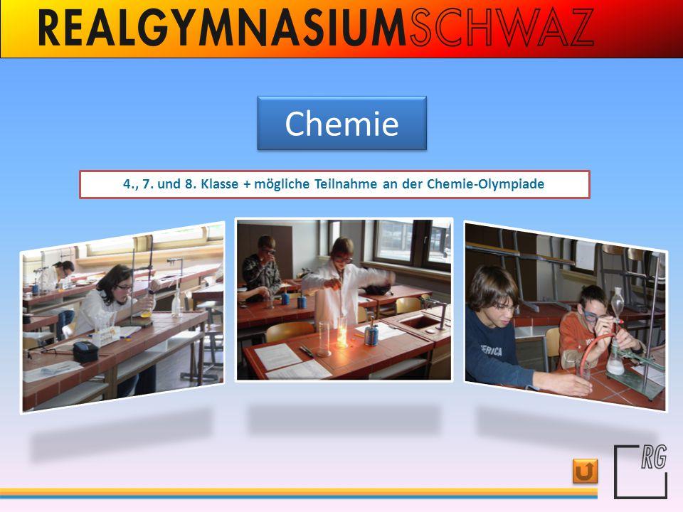 4., 7. und 8. Klasse + mögliche Teilnahme an der Chemie-Olympiade
