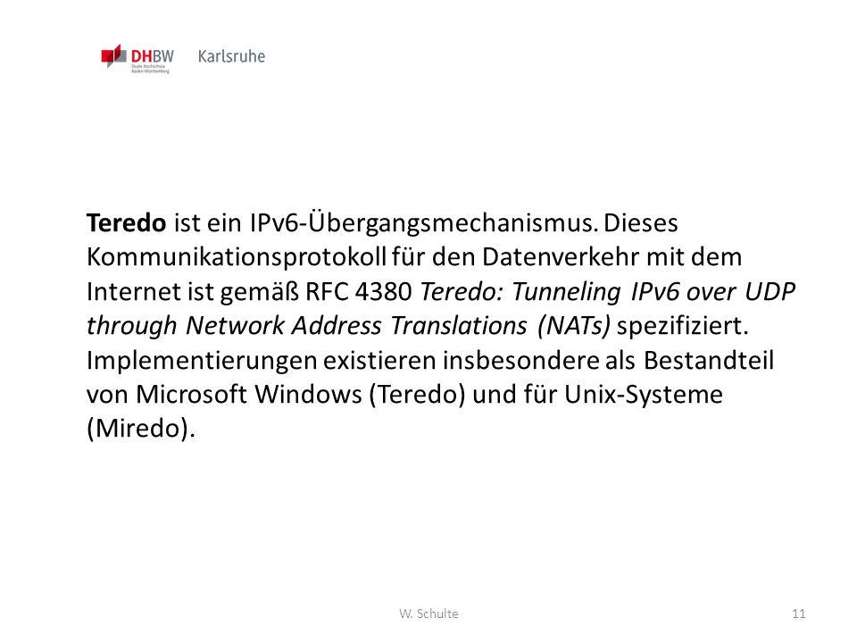 Teredo ist ein IPv6-Übergangsmechanismus