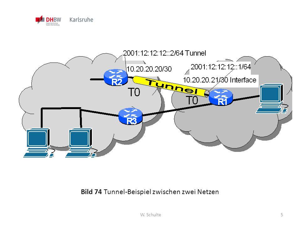 Bild 74 Tunnel-Beispiel zwischen zwei Netzen