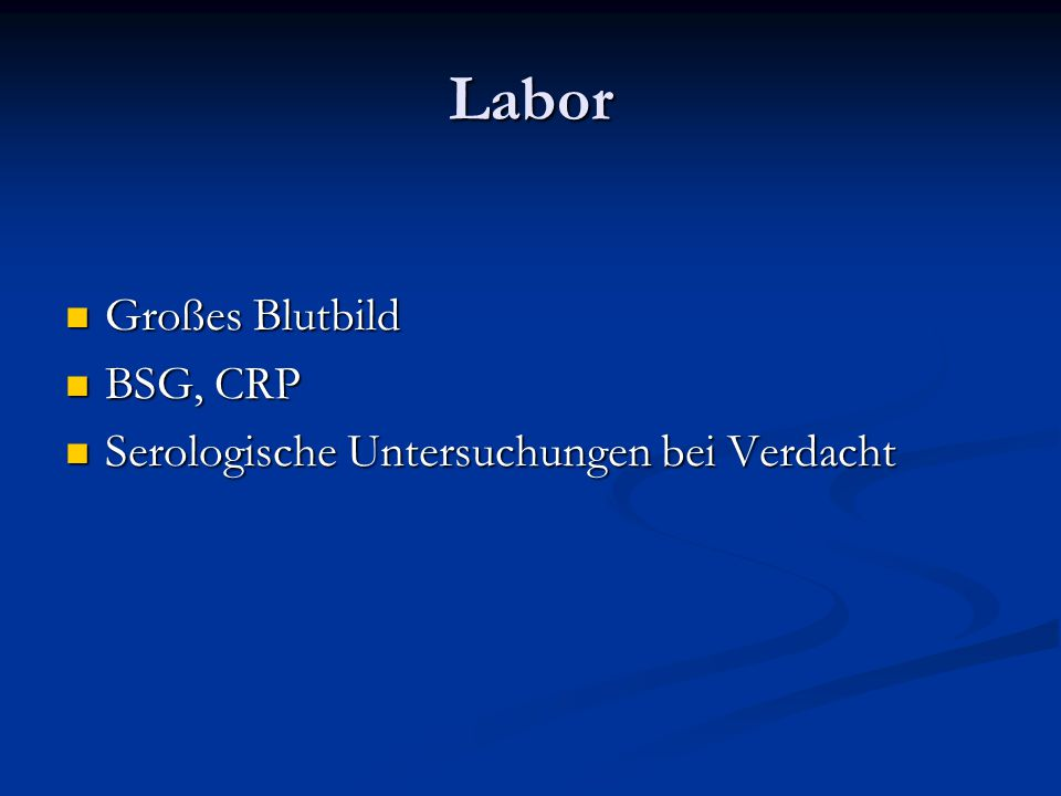Labor Großes Blutbild BSG, CRP