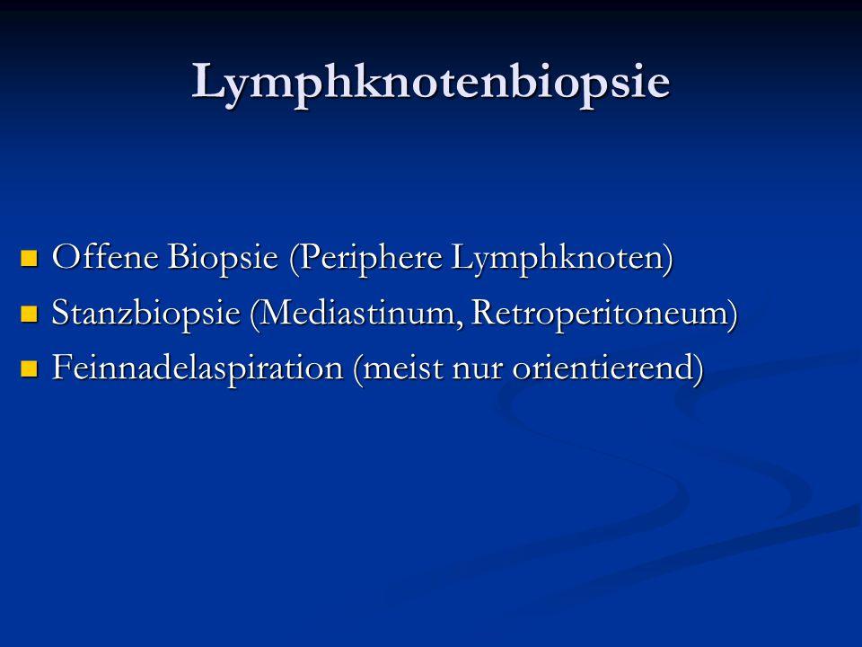 Lymphknotenbiopsie Offene Biopsie (Periphere Lymphknoten)