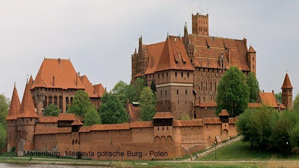 Marienburg: Medievla gotische Burg - Polen