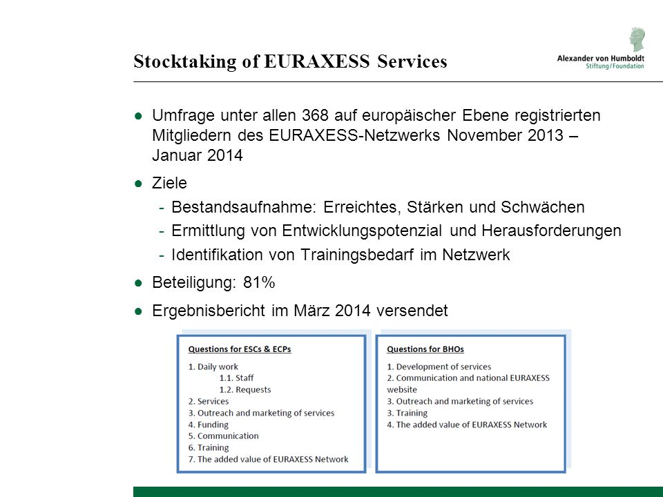 Stocktaking of EURAXESS Services