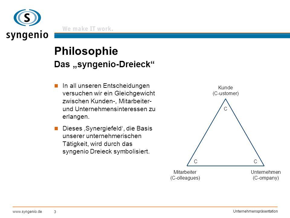 "Philosophie Das ""syngenio-Dreieck"