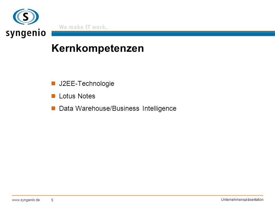 Kernkompetenzen J2EE-Technologie Lotus Notes