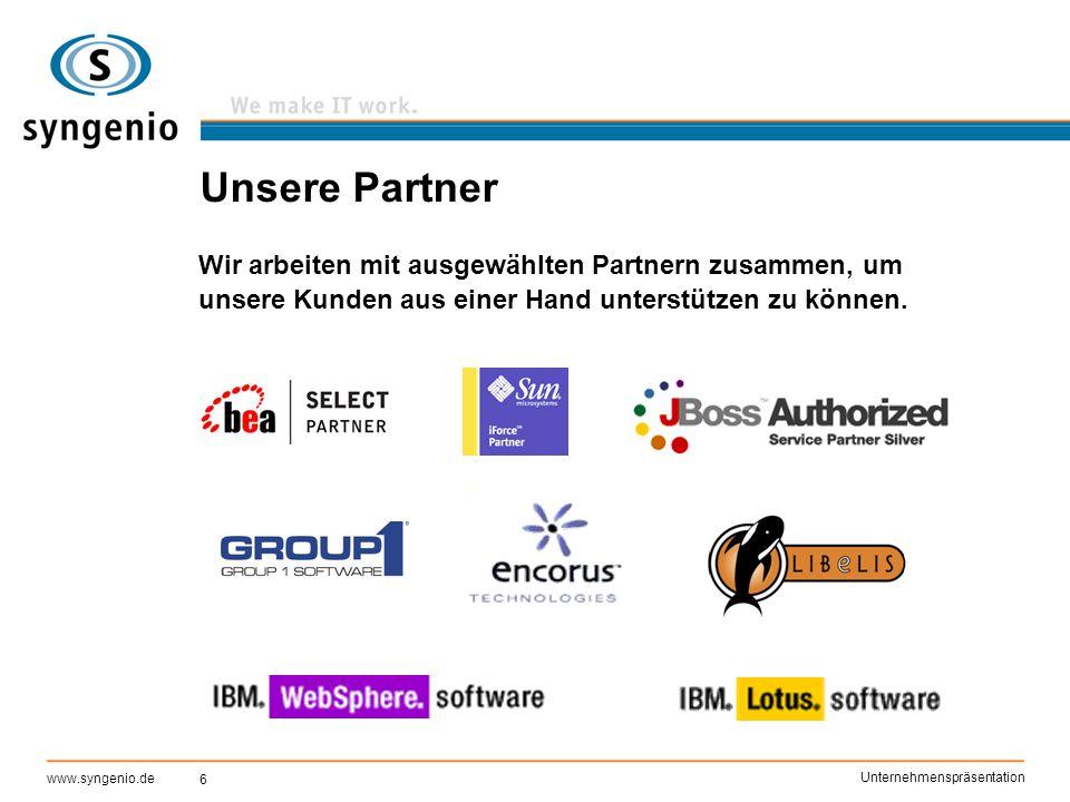 Unsere Partner Wir arbeiten mit ausgewählten Partnern zusammen, um unsere Kunden aus einer Hand unterstützen zu können.