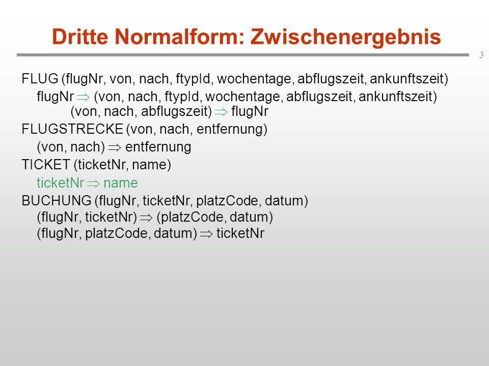 Dritte Normalform: Zwischenergebnis