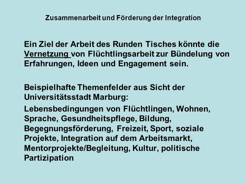 Zusammenarbeit und Förderung der Integration